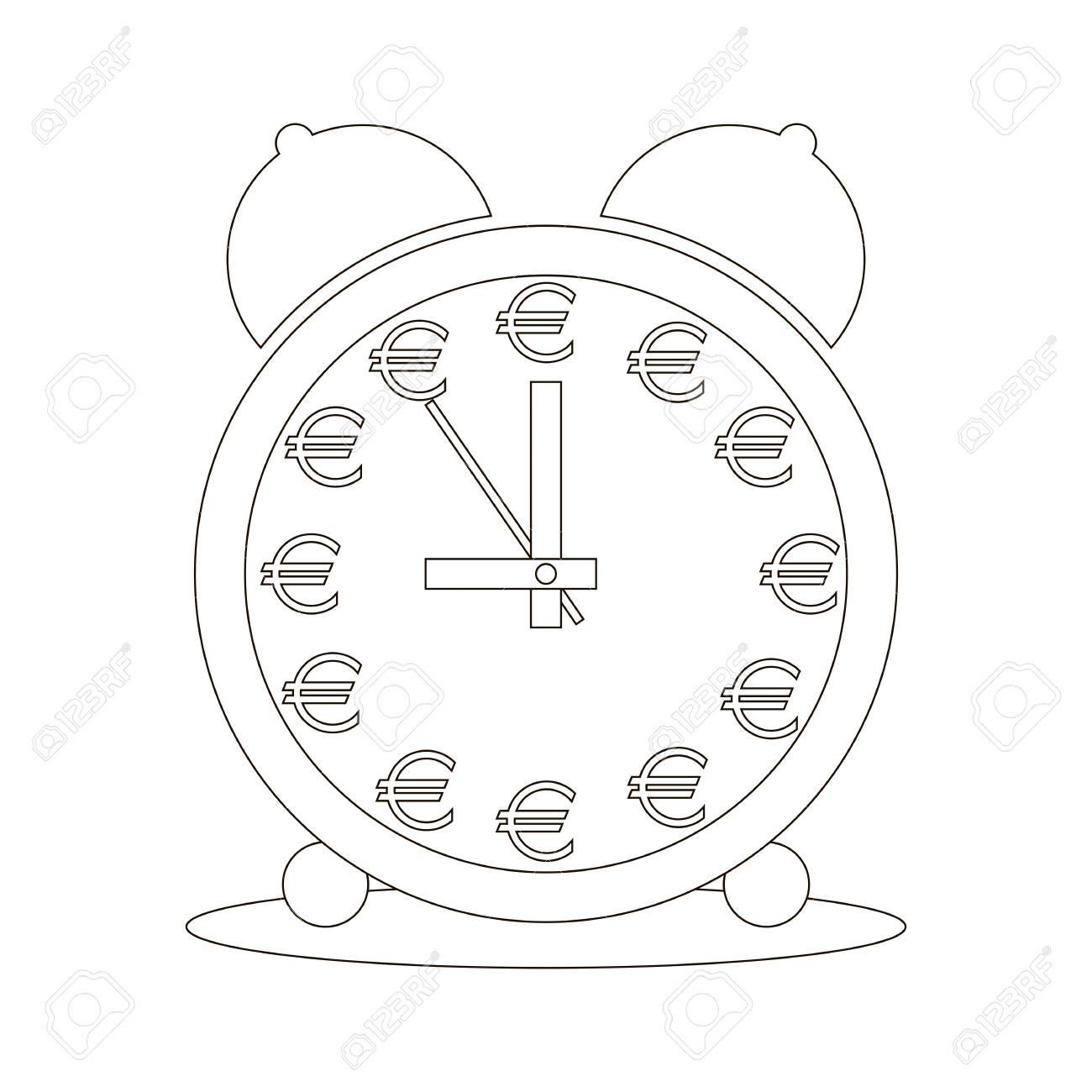 Geschäftskonzept: Zeit Ist Geld. Vektorbild. Wecker, Der Anstelle ...