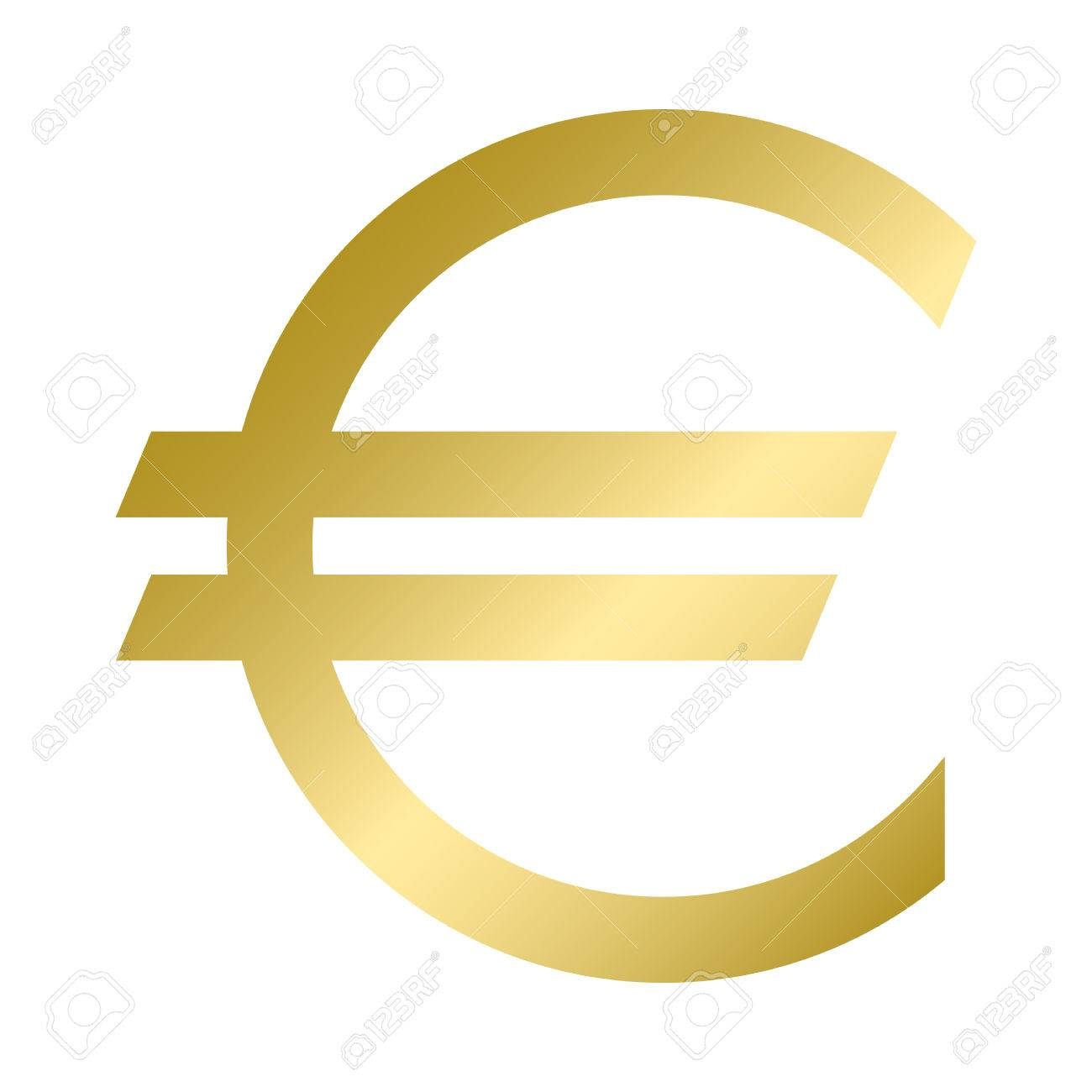 The euro currency symbol in gold color vector illustration the euro currency symbol in gold color vector illustration graphic symbol of the european buycottarizona Choice Image