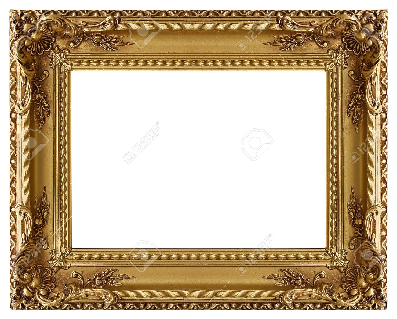 picture gold frame with a decorative pattern stock photo 8727820 - Decorative Picture Frames
