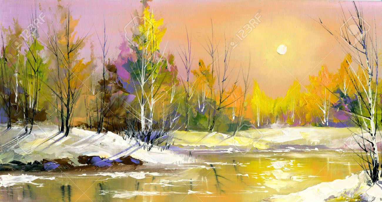 The wood river on a decline in the spring Stock Photo - 8874615