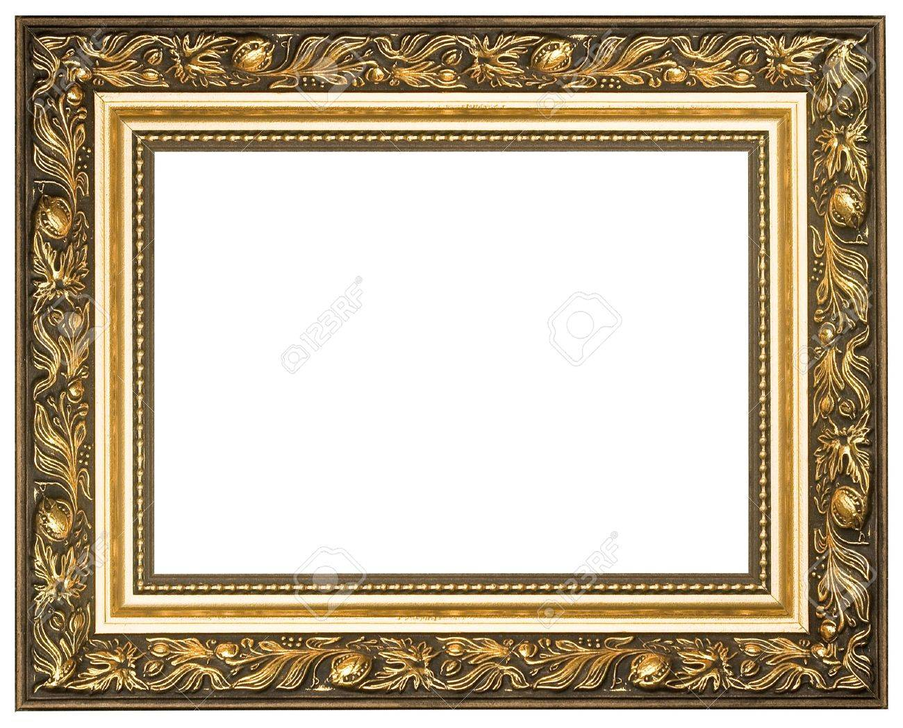 Picture gold frame with a decorative pattern Stock Photo - 9695145