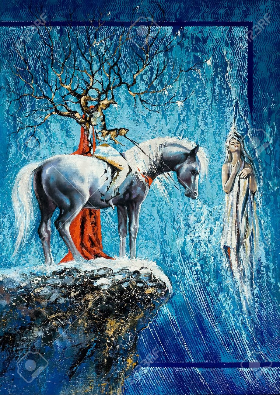 Tree-horseman on a horse and soul Stock Photo - 9695342
