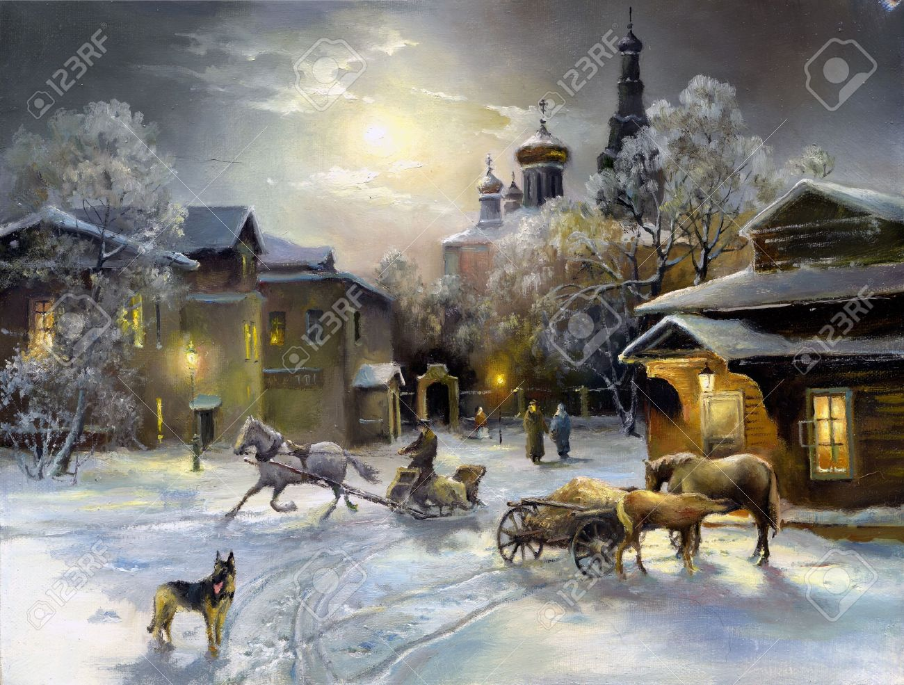 Rural landscape, oil on a canvas Stock Photo - 11012067