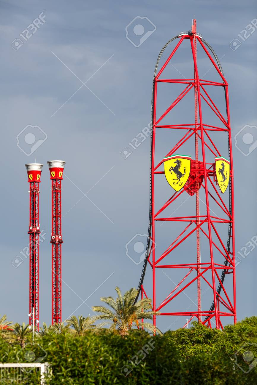 Ferrari Land Roller Coaster Salou Spain Stock Photo Picture And Royalty Free Image Image 84384346