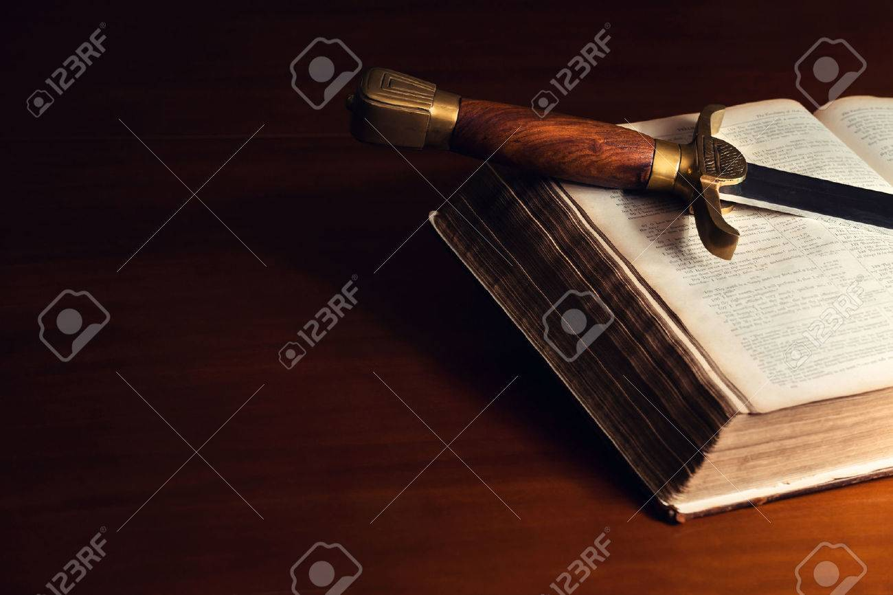 150 year old Bible with a sword - 28904812