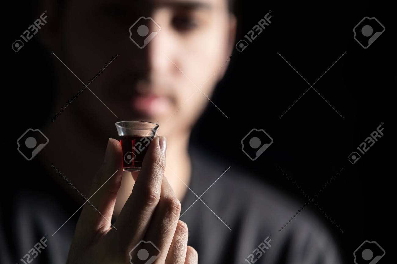Young Man Taking The Lords Supper - 37715907