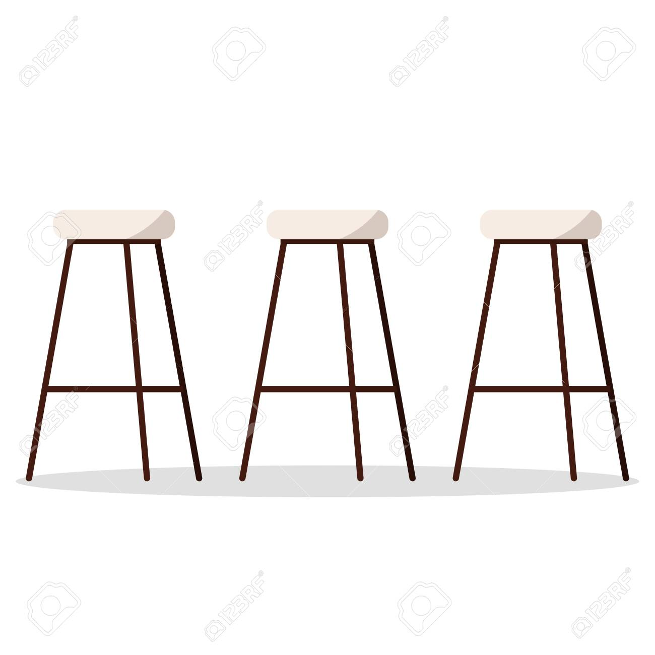 Miraculous Vector Illustration Of Cozy And Comfortable Wooden Metal High Pabps2019 Chair Design Images Pabps2019Com