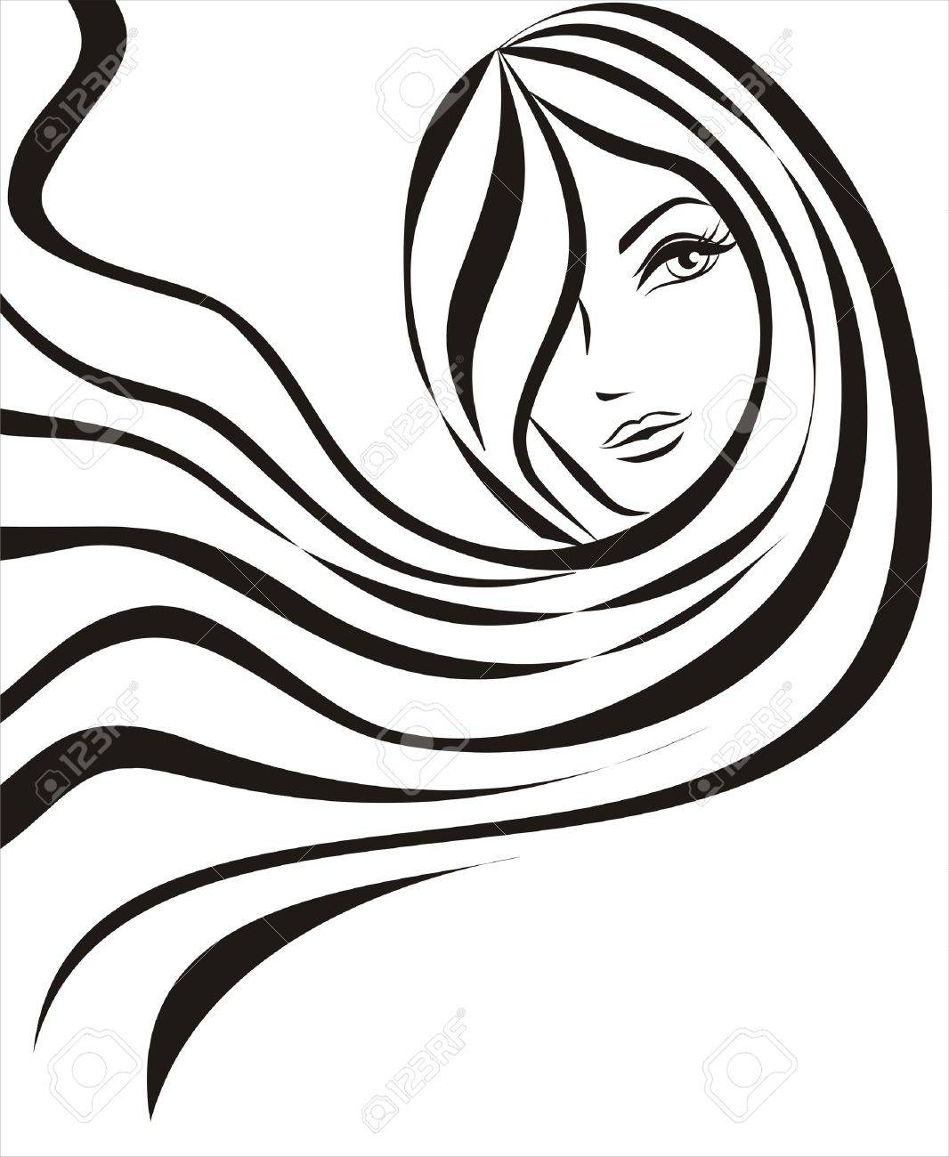 young beautiful woman concept sketch Stock Vector - 8396965