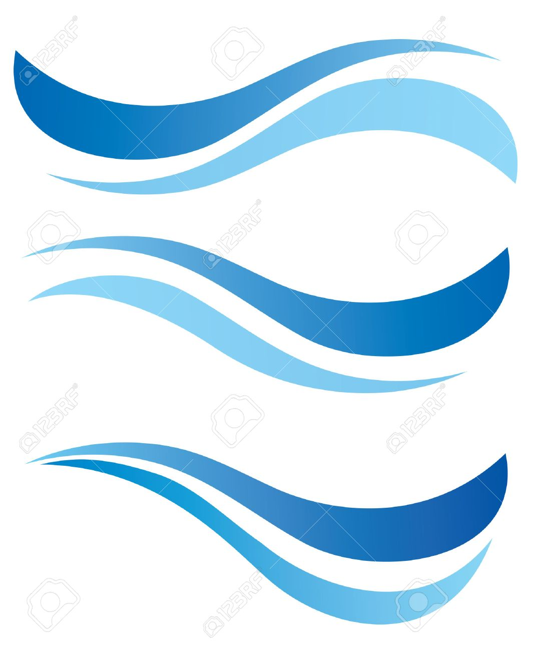 water waves design elements vector set royalty free cliparts rh 123rf com wave vector k wavevector spectrum