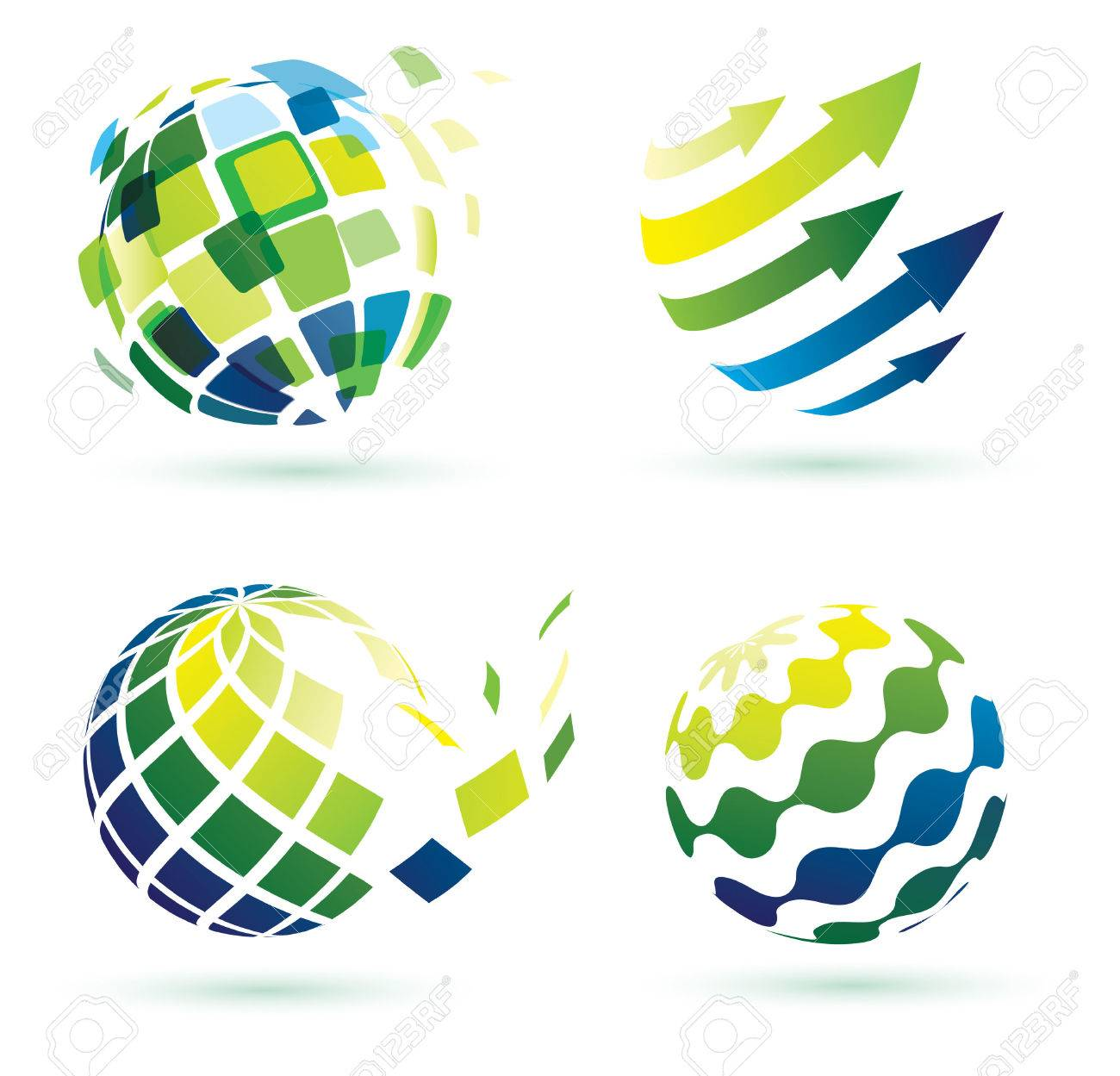 abstract globe icons, business and social networks concept Stock Vector - 22338629