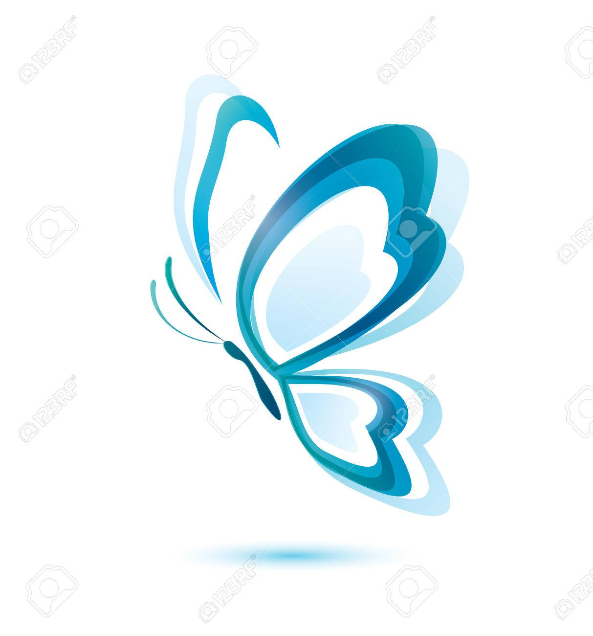 Blue butterfly beauty concept isolated vector symbol royalty blue butterfly beauty concept isolated vector symbol stock vector 22348486 biocorpaavc Images