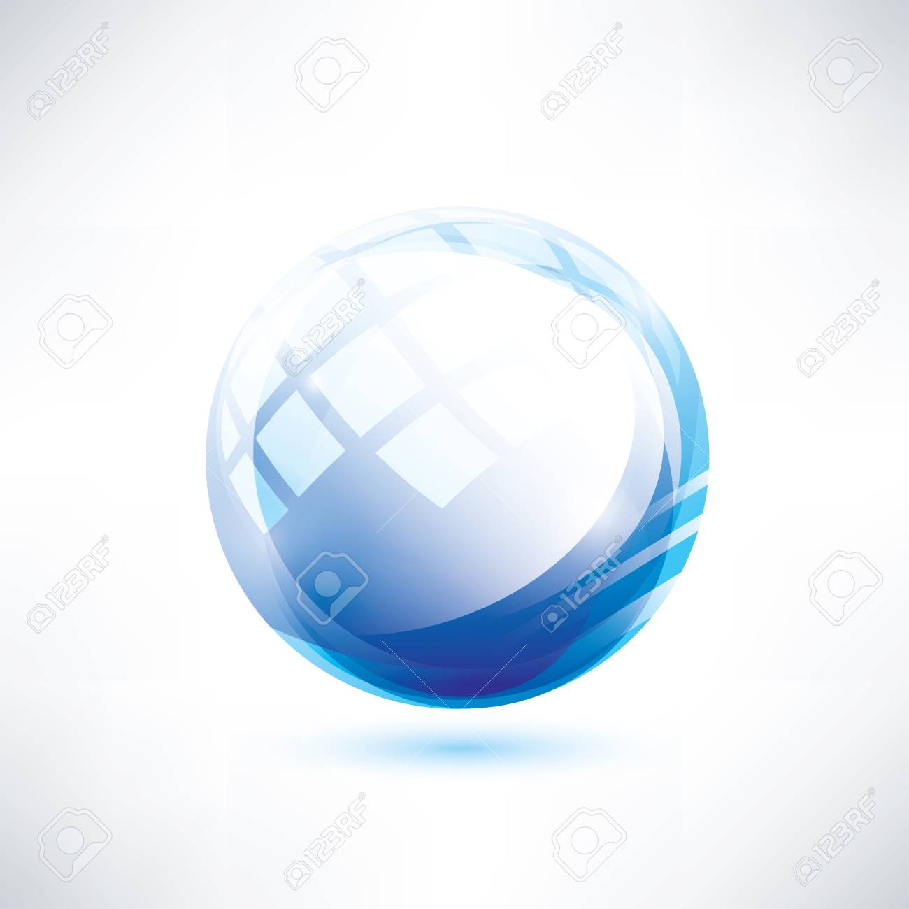blue glossy circle, abstract shape Stock Vector - 22348564