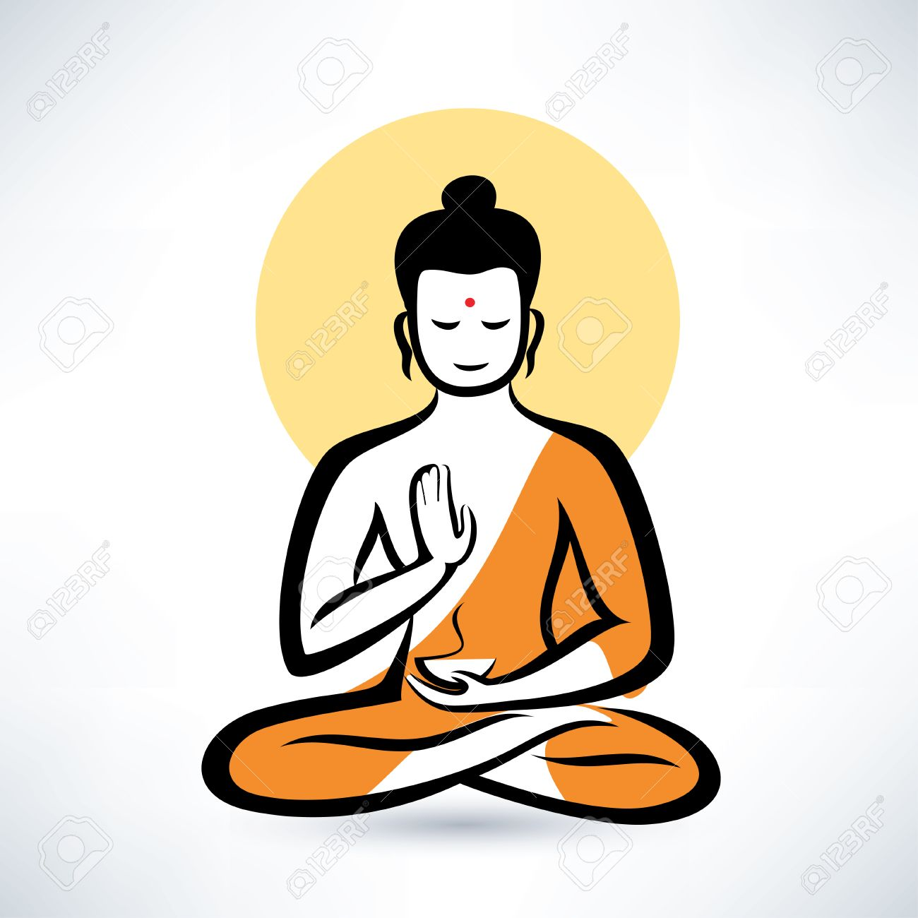 buddha vector symbol royalty free cliparts vectors and stock rh 123rf com buddha vector art buddha vector free download