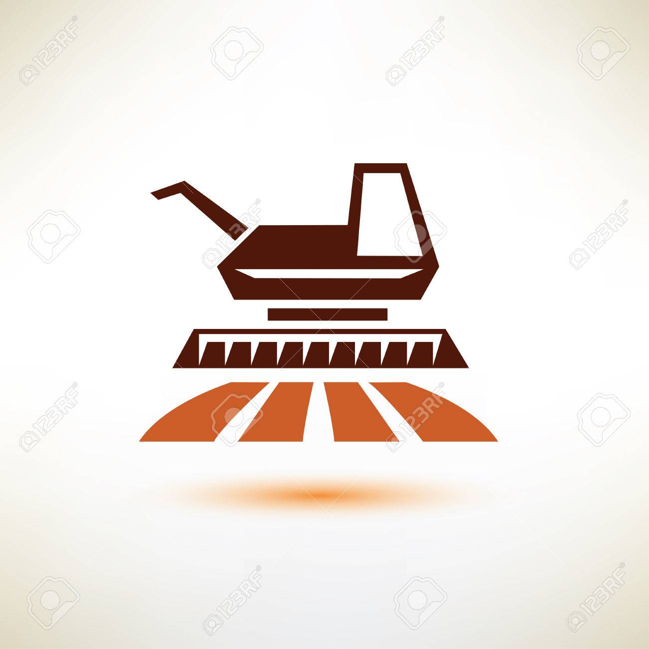 Harvester Symbol Agriculture Concept Royalty Free Cliparts Vectors