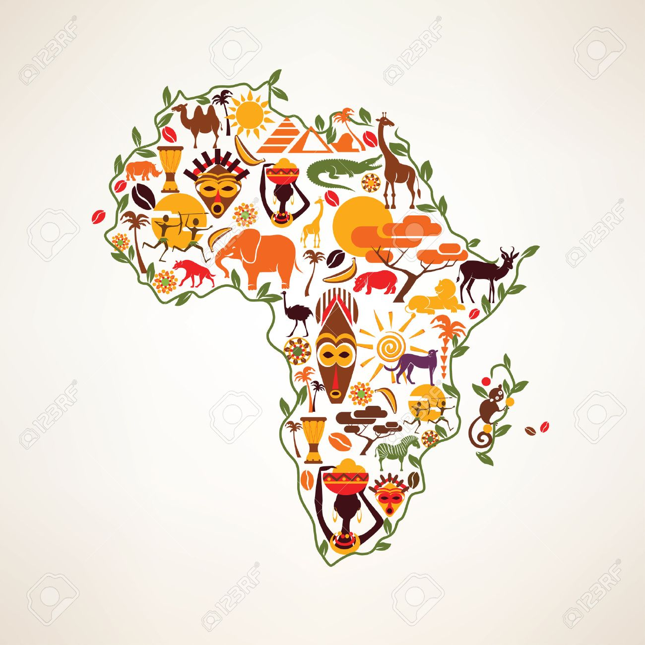 free africa map icon