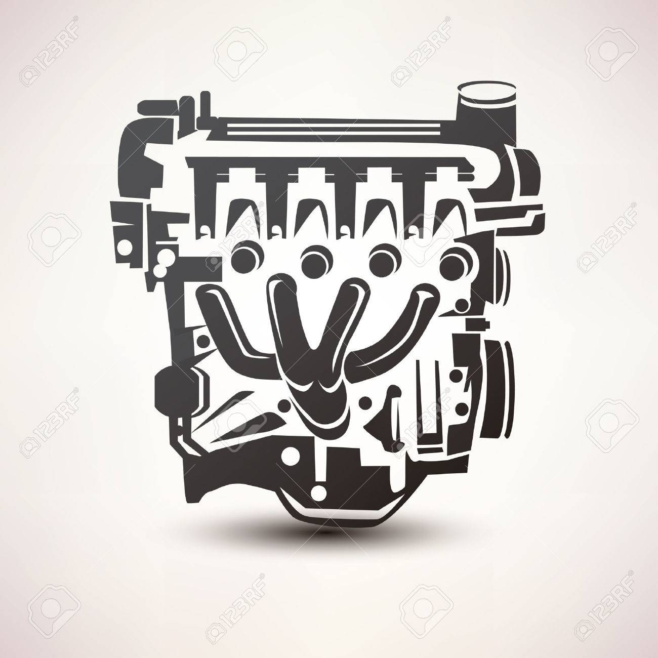 3355 check engine stock illustrations cliparts and royalty free engine car symbol stylized vector silhouette icon biocorpaavc Gallery