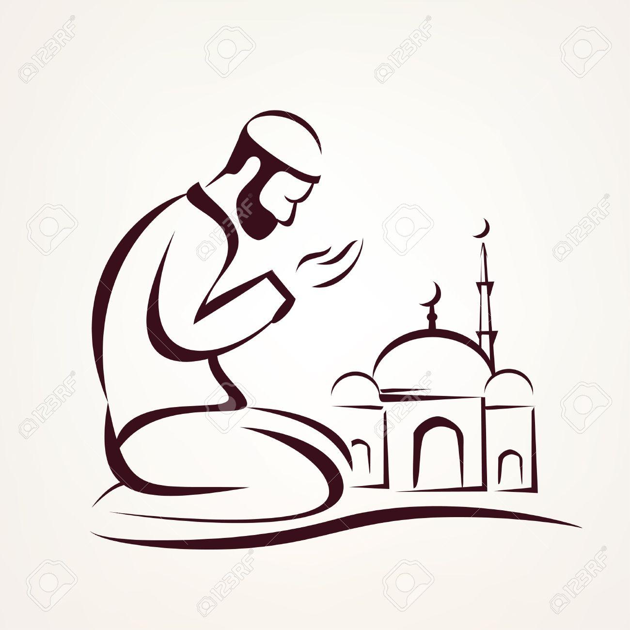 Muslim prayer outlined vector sketch religious symbol royalty muslim prayer outlined vector sketch religious symbol stock vector 64538826 biocorpaavc