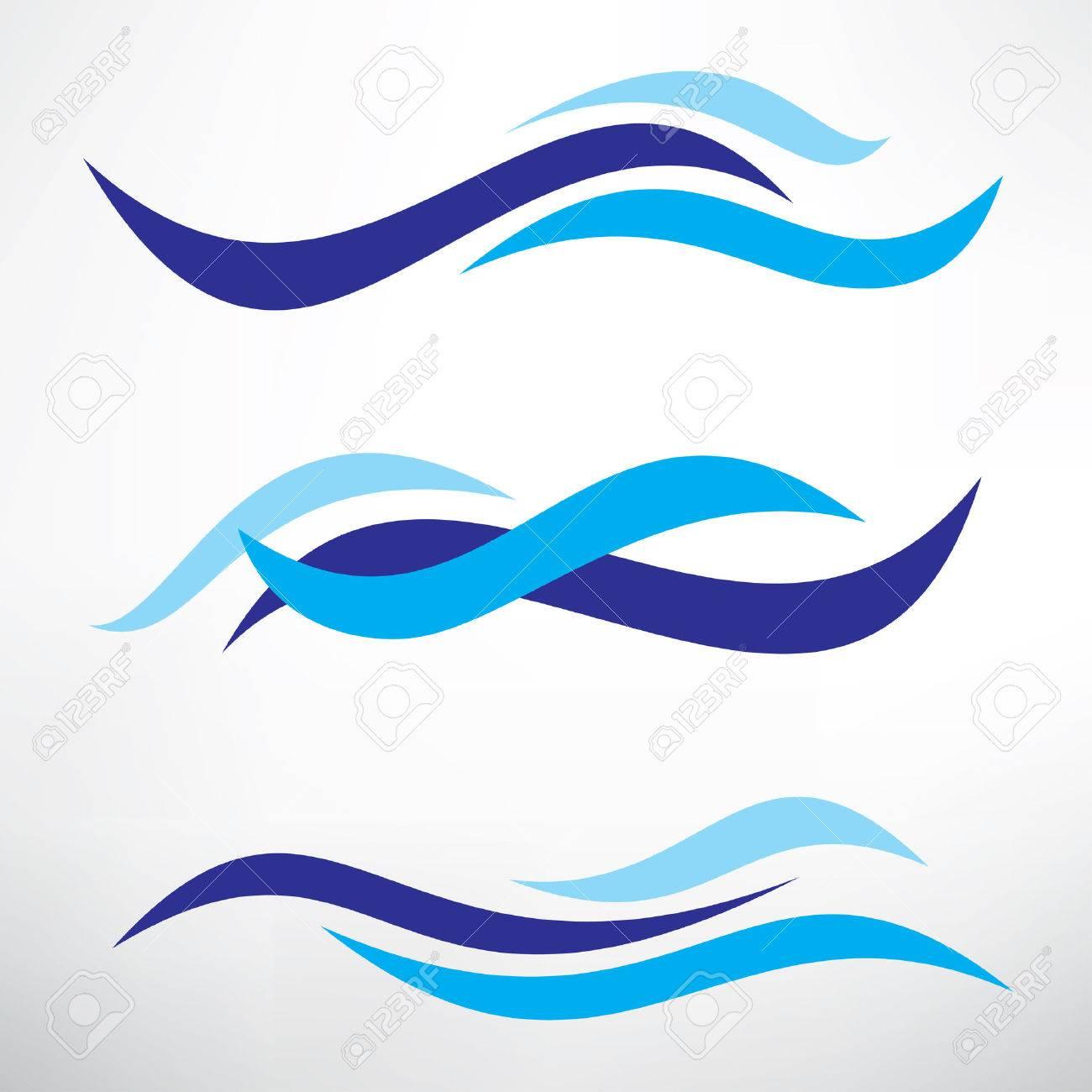 water wave set of stylized vector symbols design elements for rh 123rf com vector waveform vector wave line