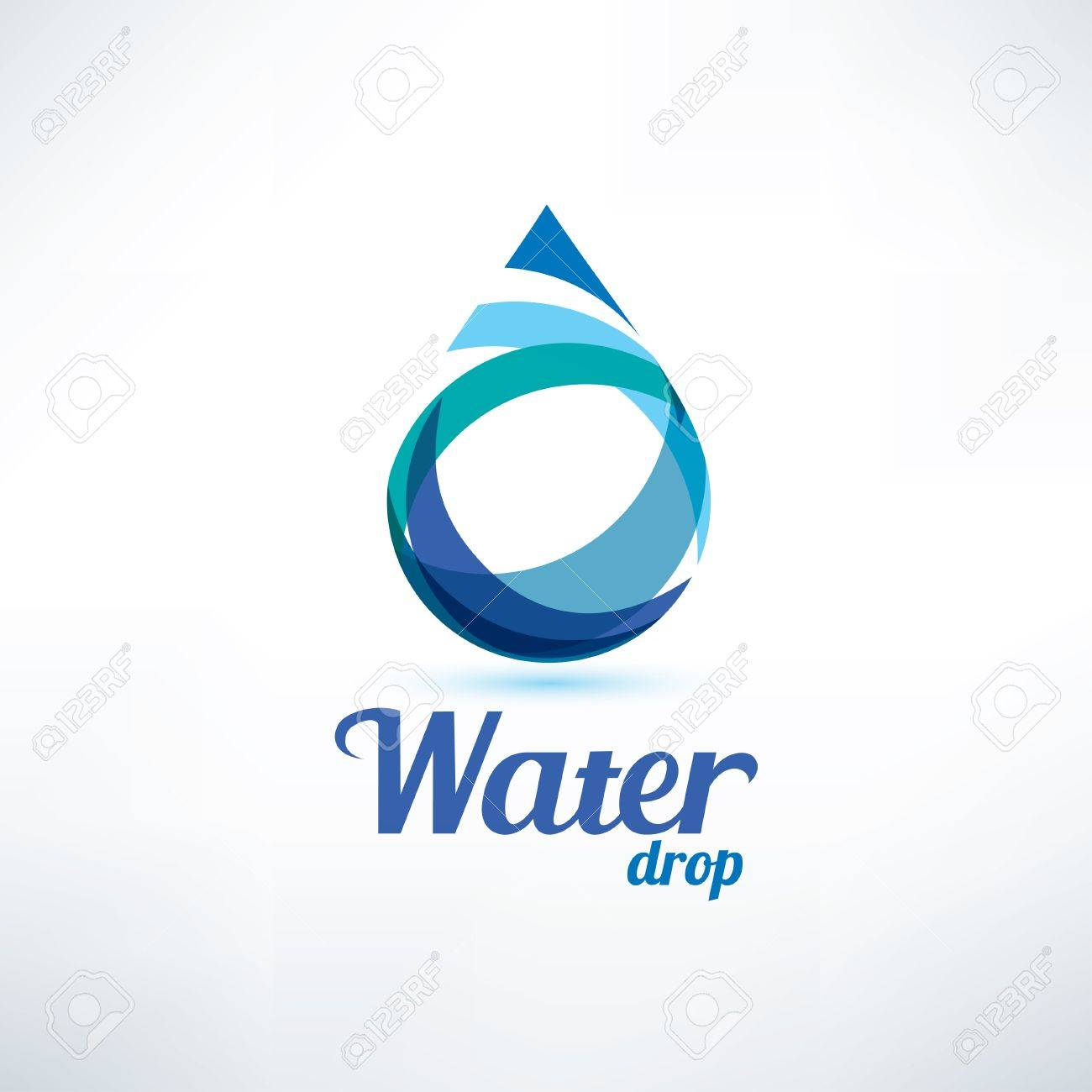 water drop logo template, ecology and environment concept - 68890600