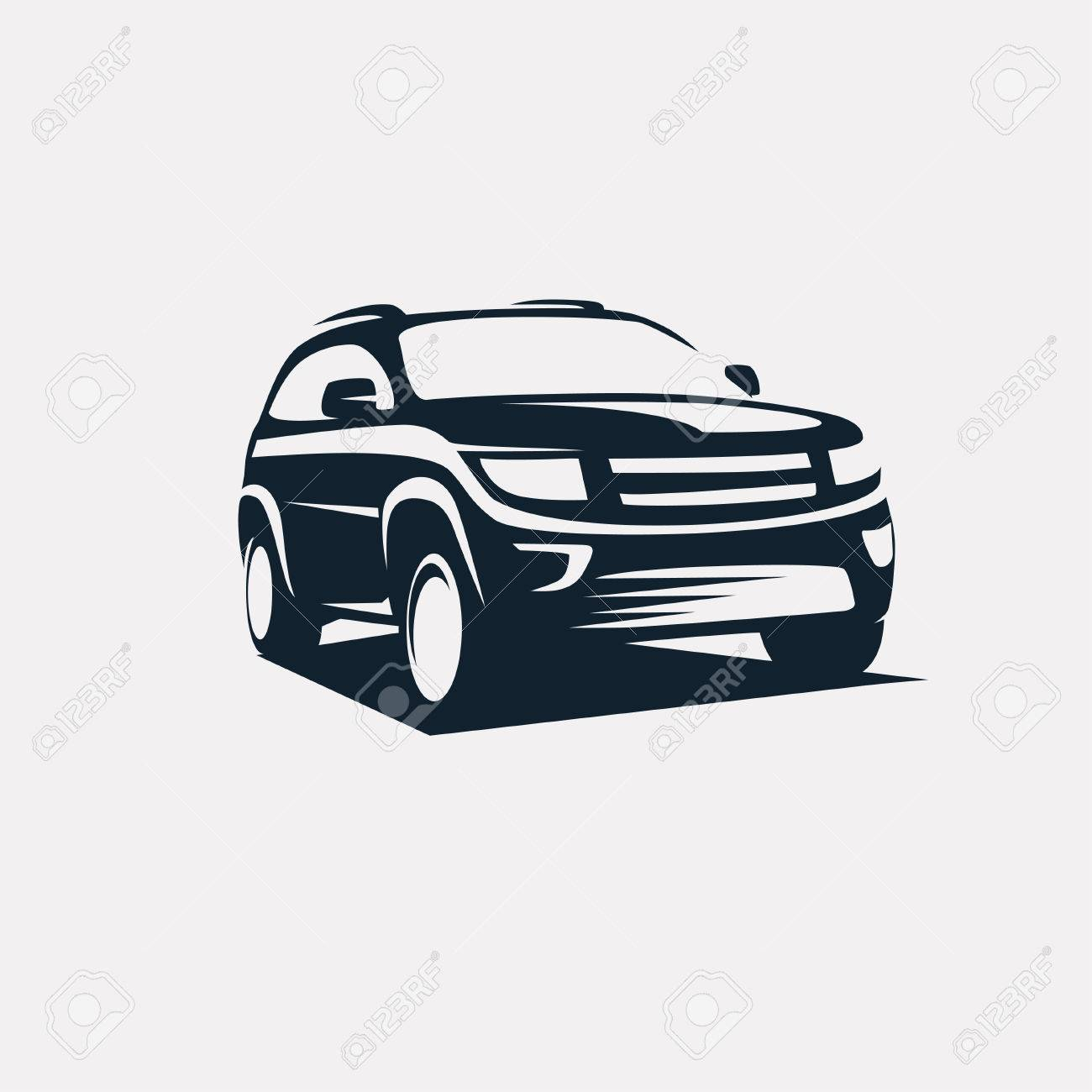 modern suv template, offroader car stylized vector silhouette - 67762591