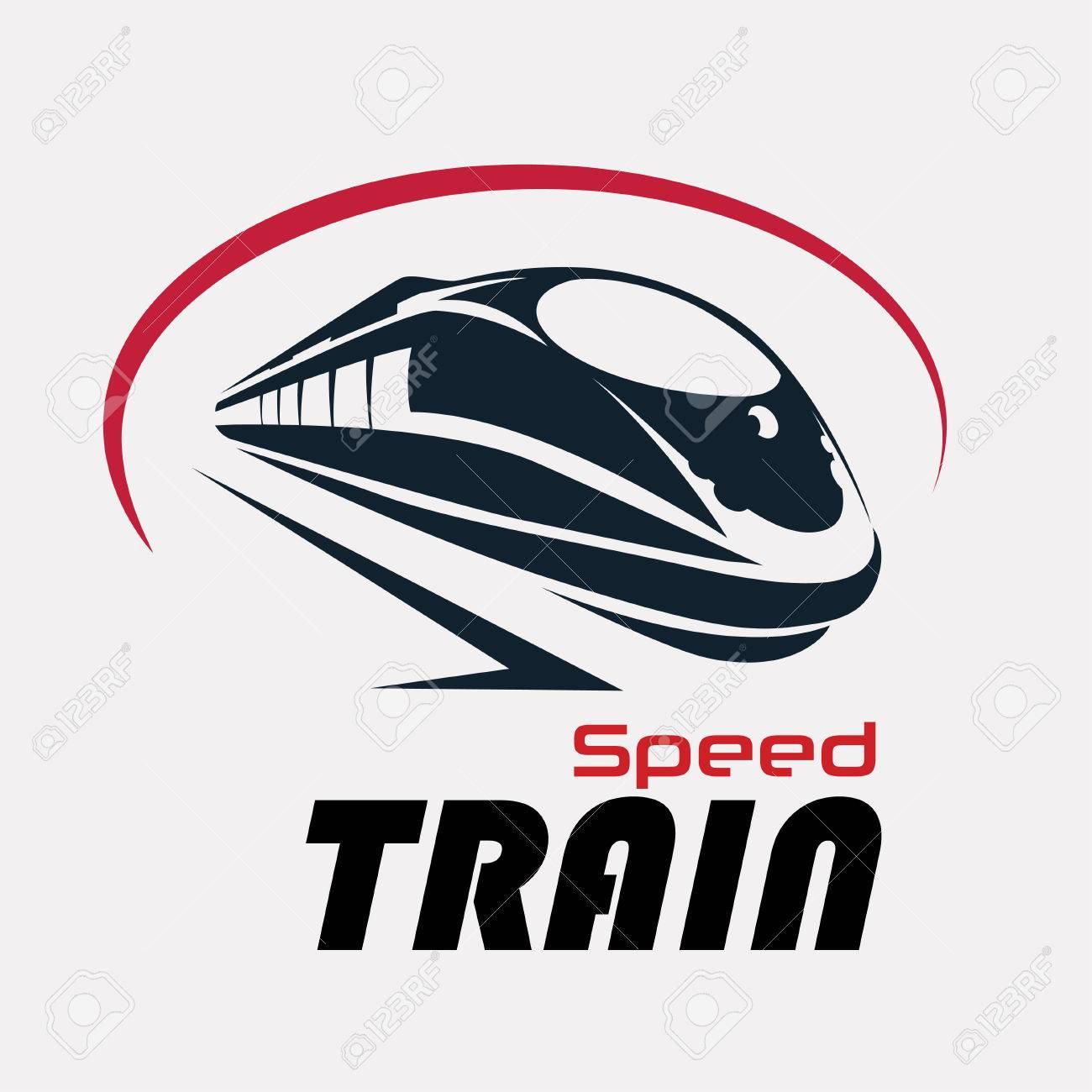 speed train logo template, stylized vector symbol - 69262446