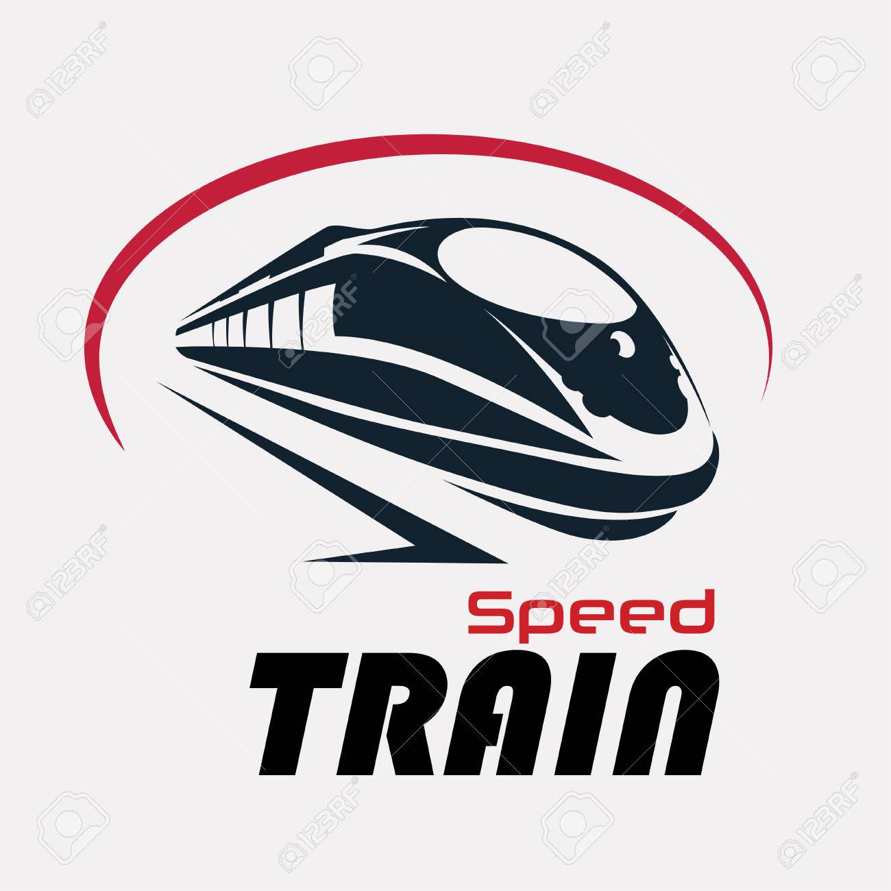 Speed Train Logo Template Stylized Vector Symbol Royalty Free
