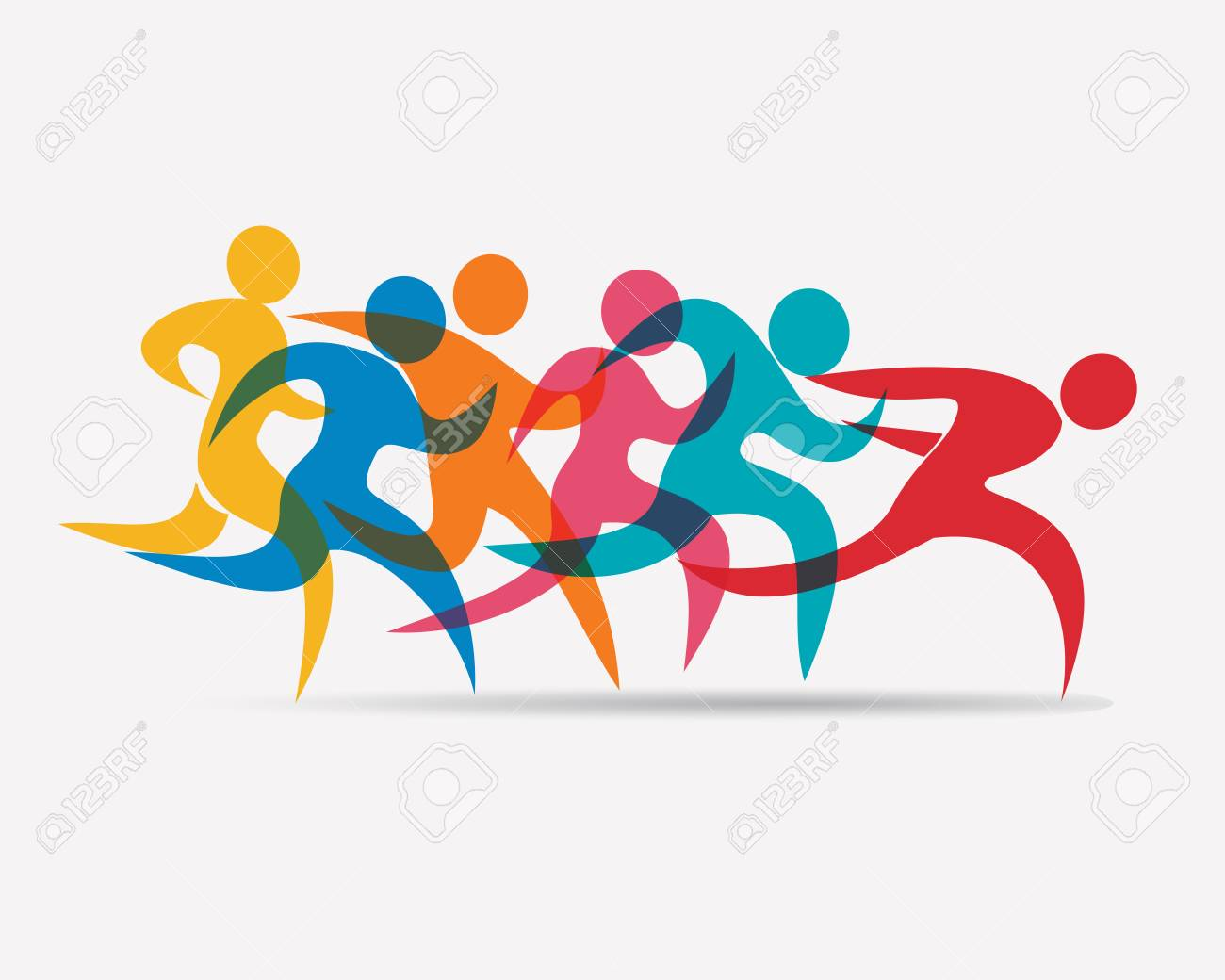 Running people set of symbols competition and finish royalty free running people set of symbols competition and finish stock vector 78614674 buycottarizona