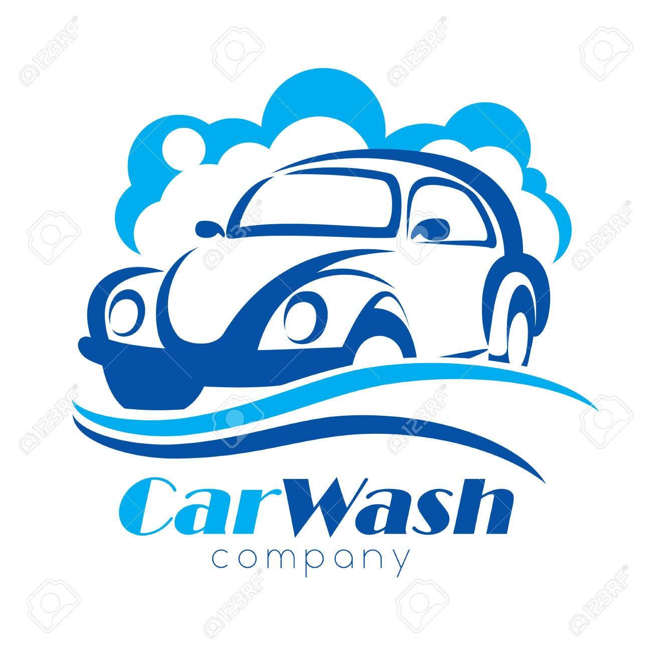 car wash stylized vector symbol design elements for logo template rh 123rf com free car wash logo design free car wash logo design