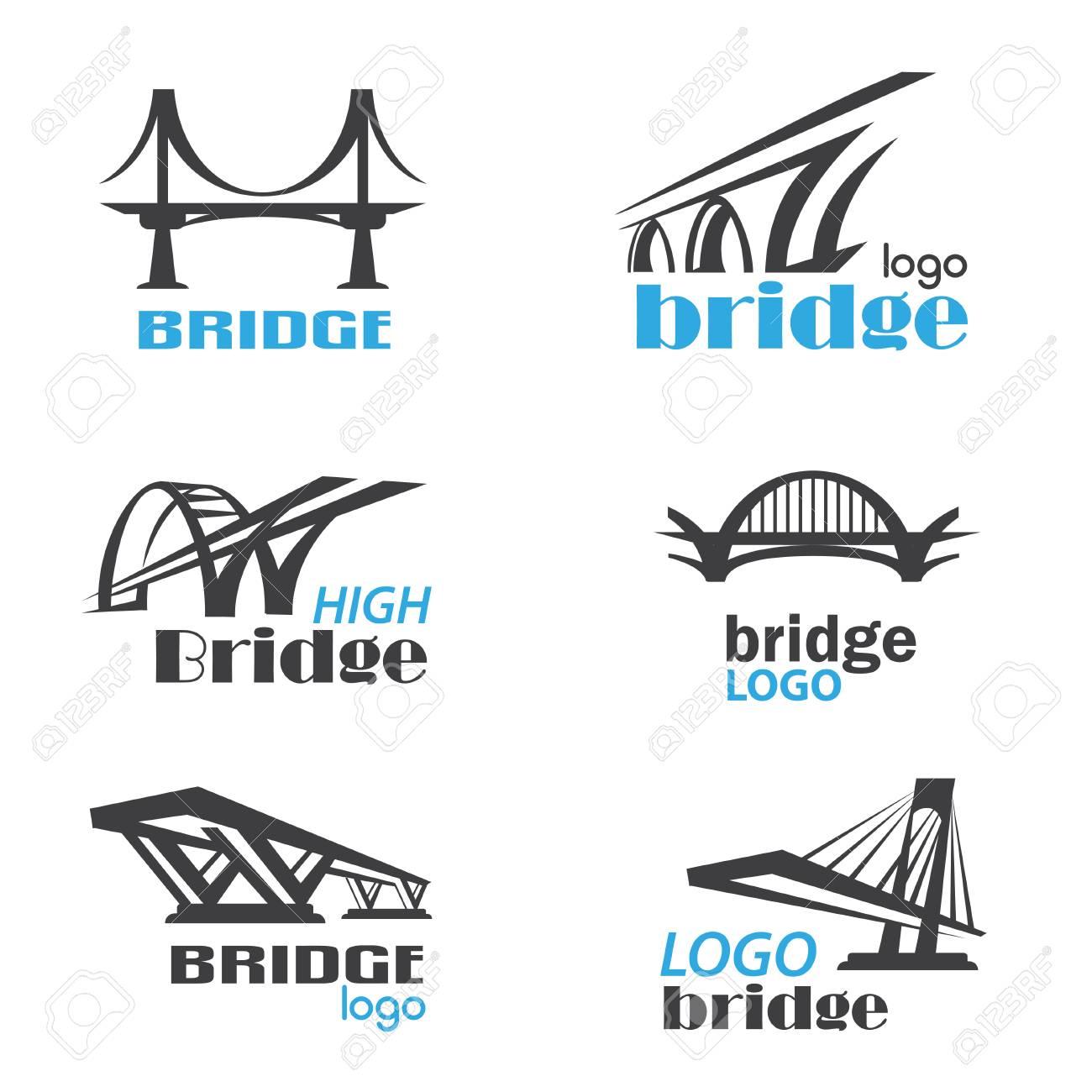 bridge symbol logo template collection - 84438787