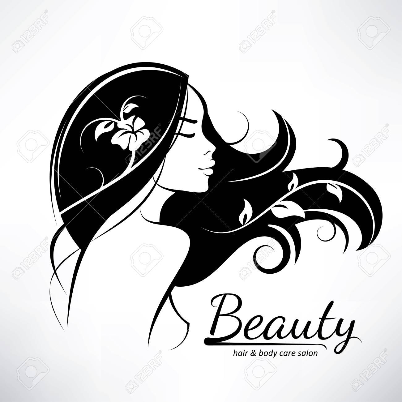 Style De Modèle De Logo De Salon De Coiffure De Femme D 39