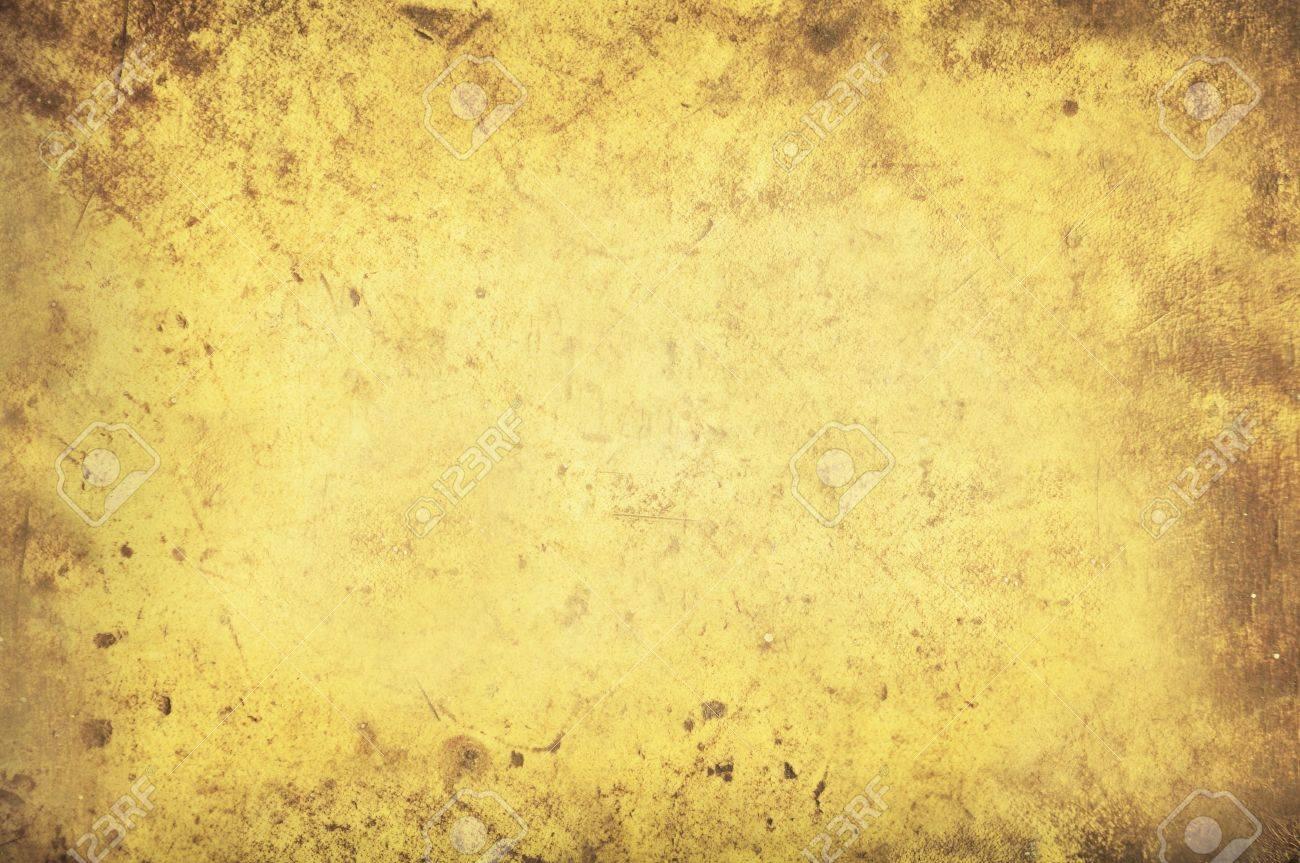 Grimy Yellow Background Texture Stock Photo