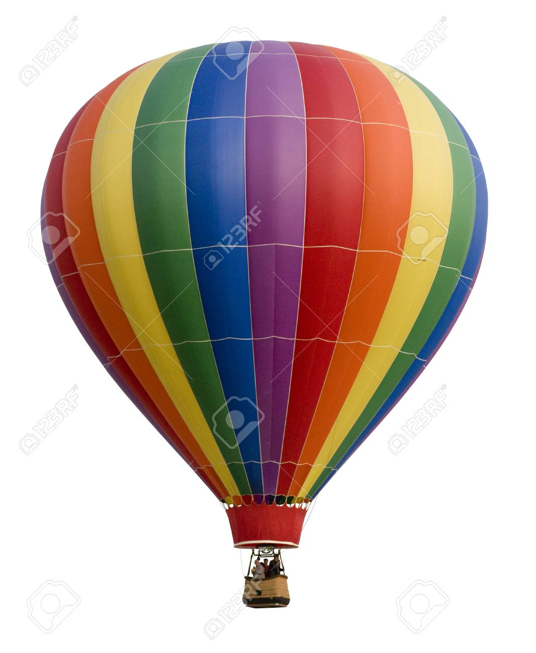 - Colorful Hot Air Balloon Against White Stock Photo, Picture And