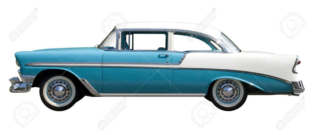 Aqua Bel-Air Vintage Automobile Isolated Against White Background ...