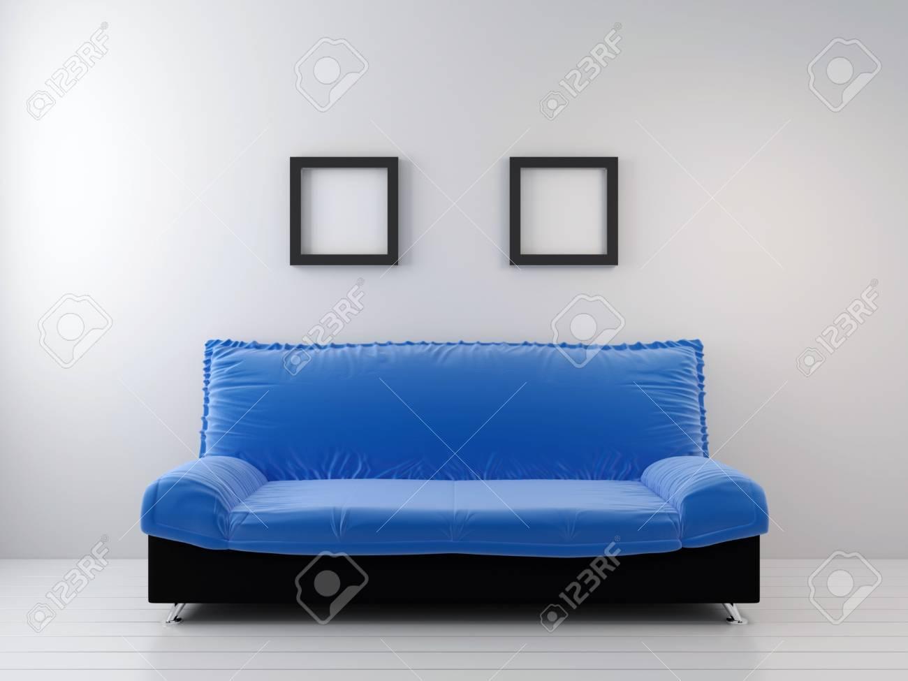 Sofa at a wall. living room Stock Photo - 9029814