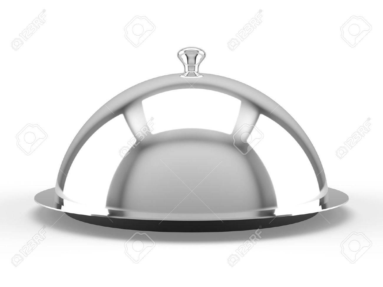 Restaurant cloche on white background Stock Photo - 11962375