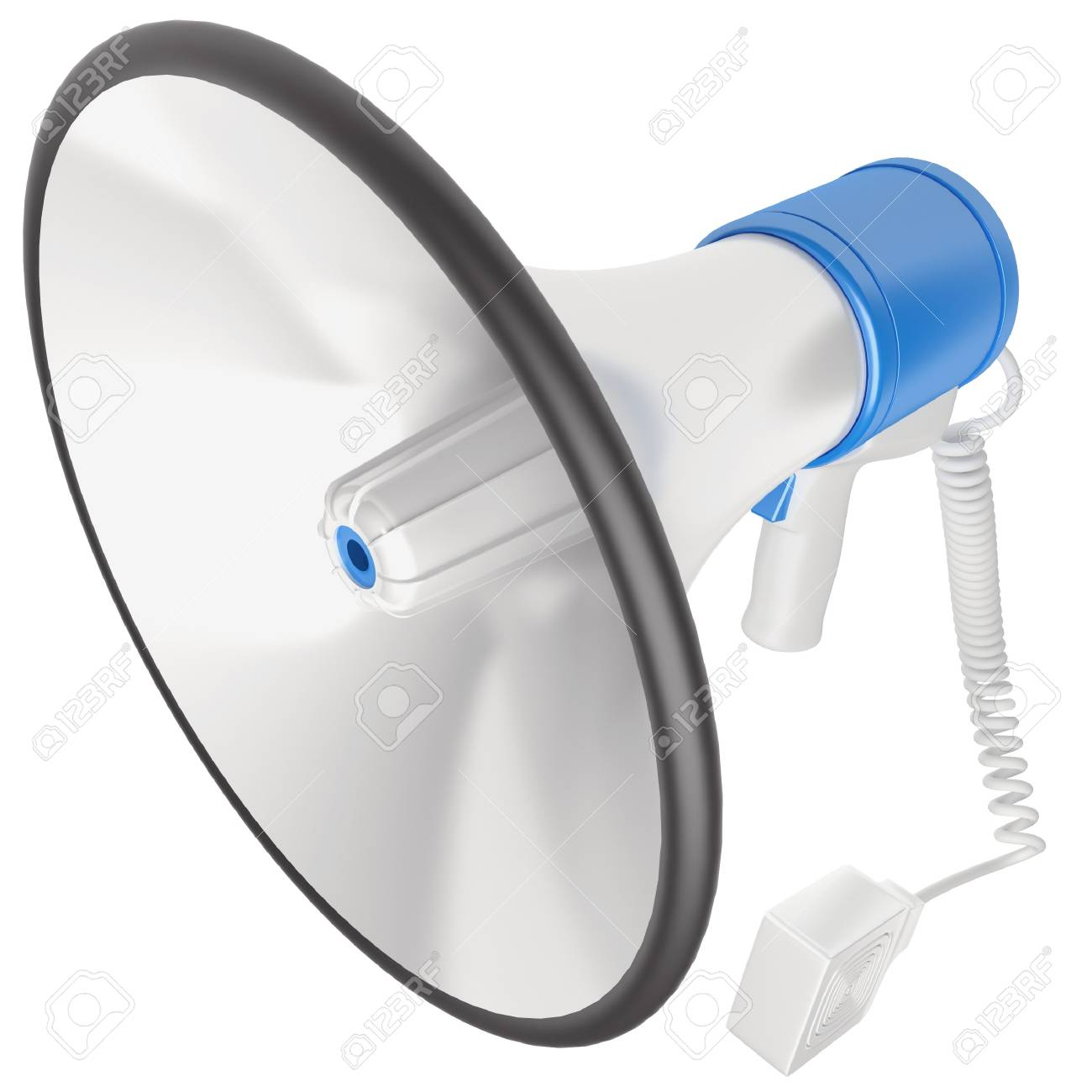 Megaphone isolated at white background. 3d render illustration Stock Illustration - 16709094