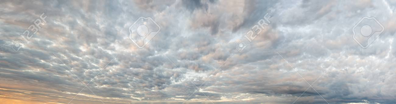 Sky Background Panorama. Made From Several Dozen Frames, Stitched ...