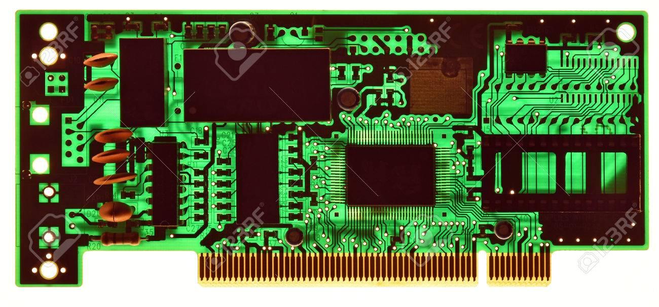 Circuito Impreso : Placa de circuito impreso iluminada para inspección en fotos