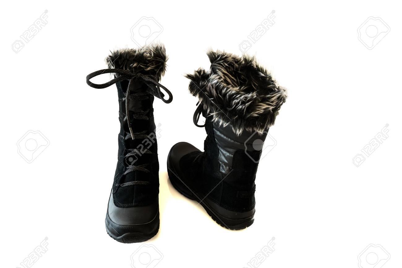 Botas para la nieve de las mujeres negras aíslan Foto de archivo - 50198934 87596c66b5af1