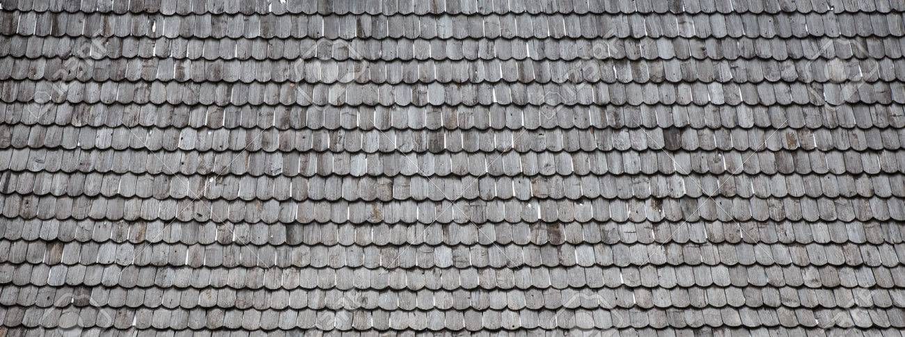 Old Wood Shingle Roof With Rough Surface, Background Stock Photo   41674760