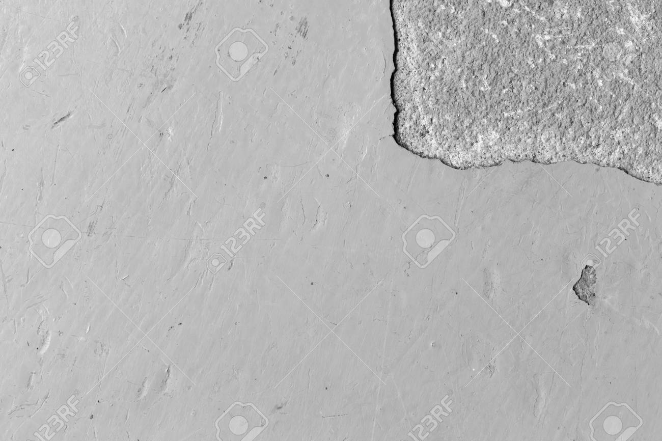 Old Epoxy Floor With Peeling And Scratched Black White Tone Stock Photo