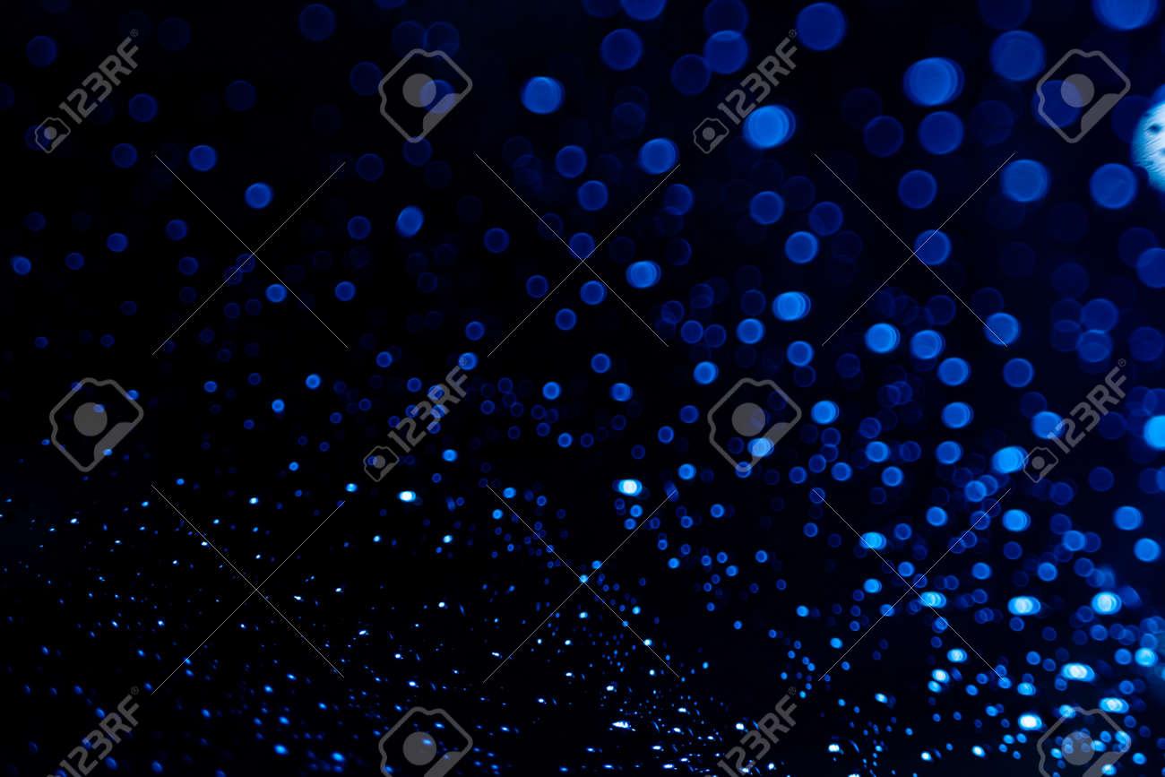 dark blue bokeh abstract background - 159826644
