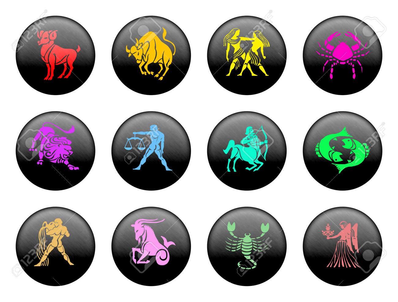 Set of icons for twelve zodiac signs Stock Photo - 517249