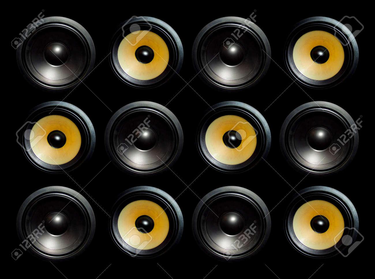Big loud box with dozen round speakers Stock Photo - 699621  sc 1 st  123RF Stock Photos & Big Loud Box With Dozen Round Speakers Stock Photo Picture And ... Aboutintivar.Com