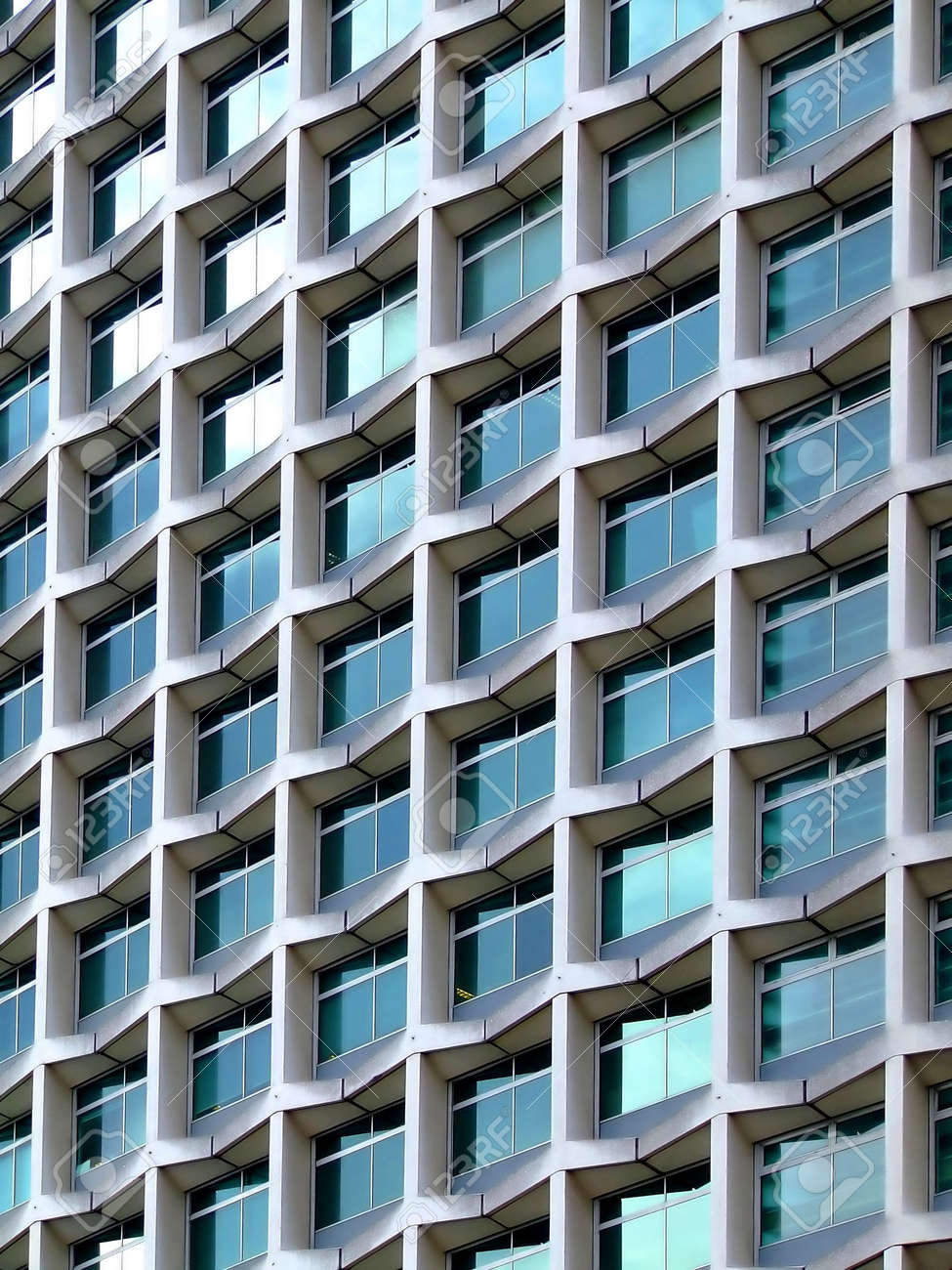 Modern Architecture Detail modern architecture building detail with square windows stock