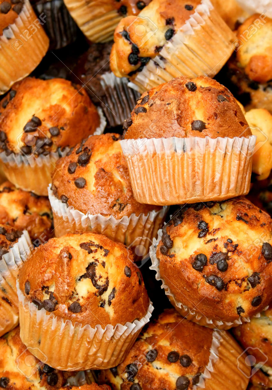 Bunch of fresh hand made muffins cakes Stock Photo - 806570