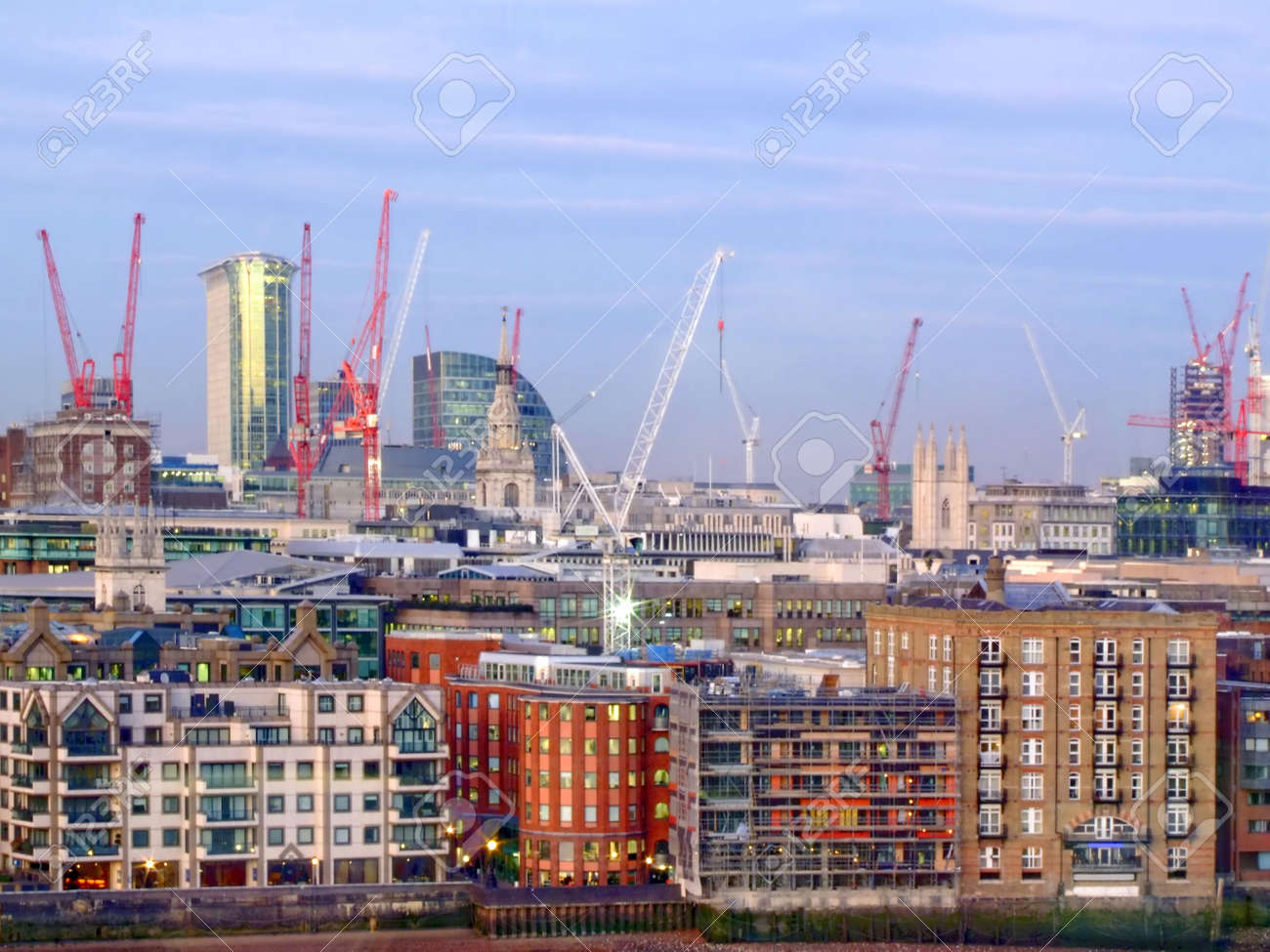 Big construction site in central London afternoon Stock Photo - 864242
