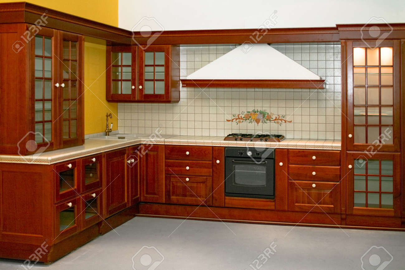 Big and new traditional look wooden kitchen Stock Photo - 2085642