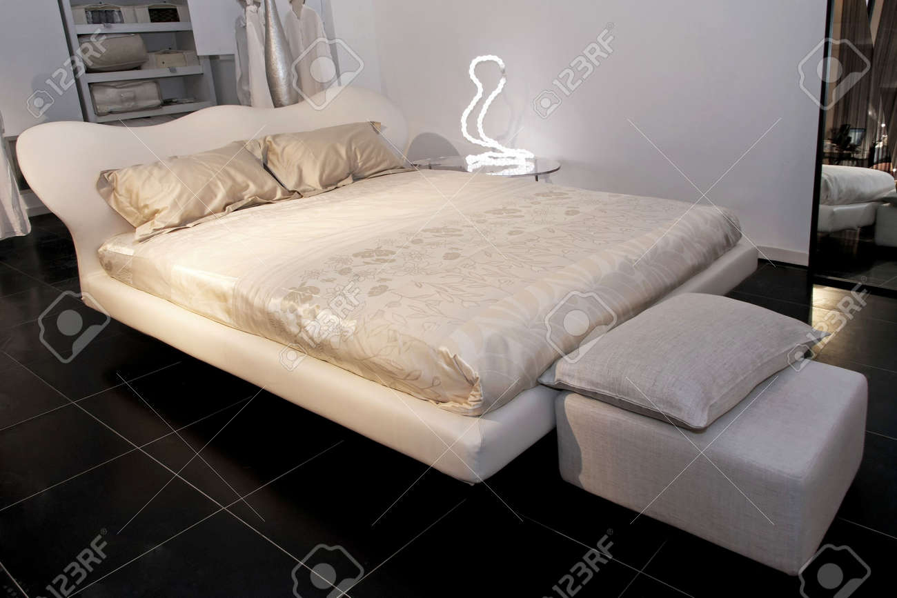 Big King Size Double Bed And Lamp Stock Photo, Picture And Royalty ...