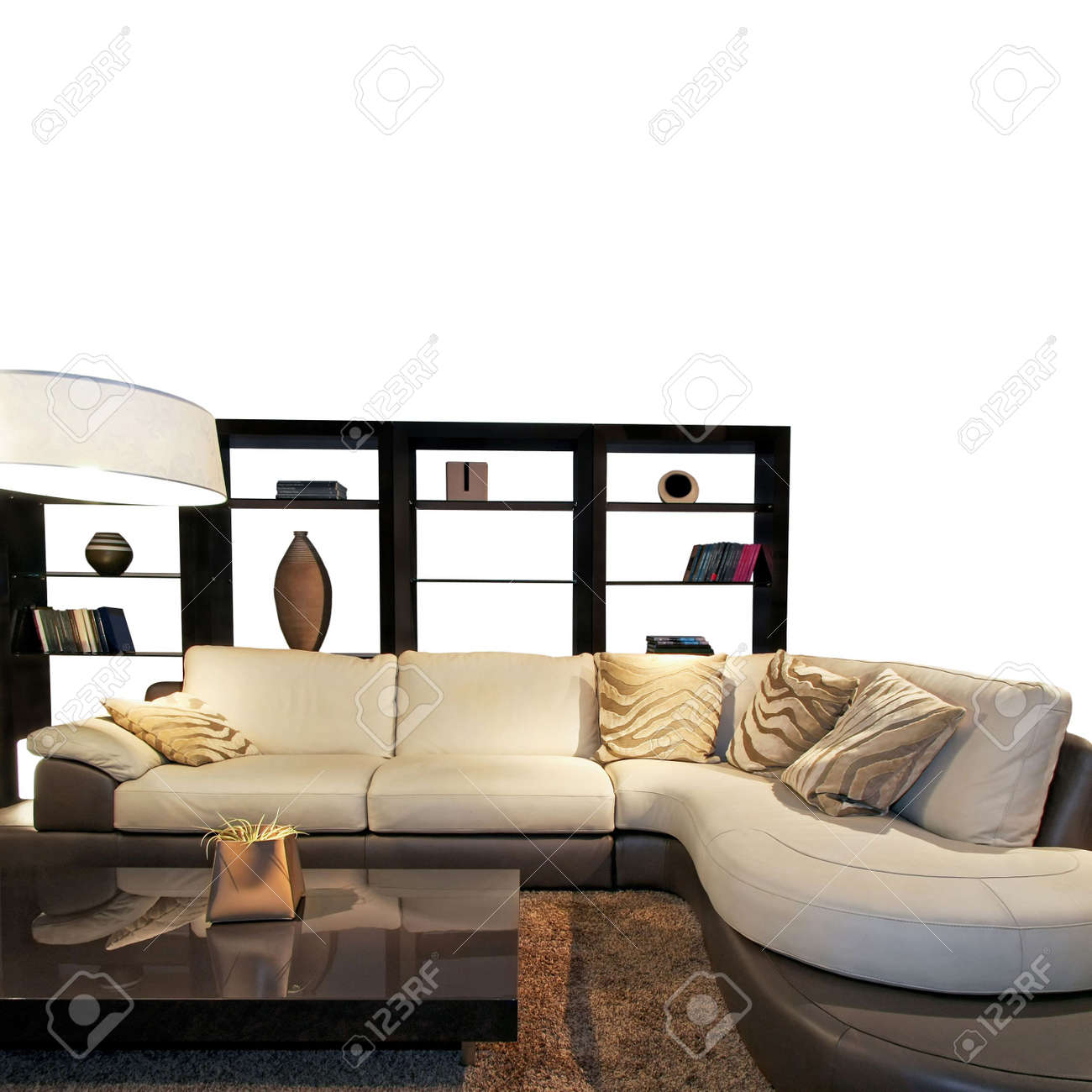 Contemporary living room with big sitting area Stock Photo - 2691405